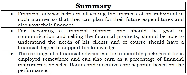 Financial Planning Career