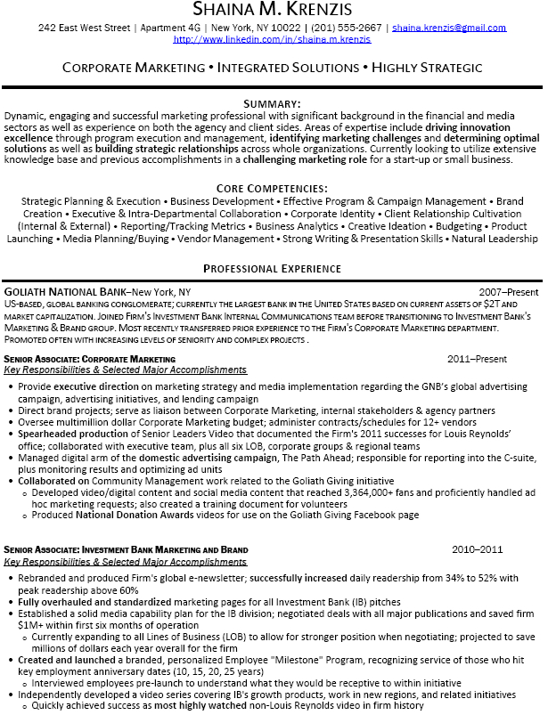 banking resume template investment banking resume sample ...