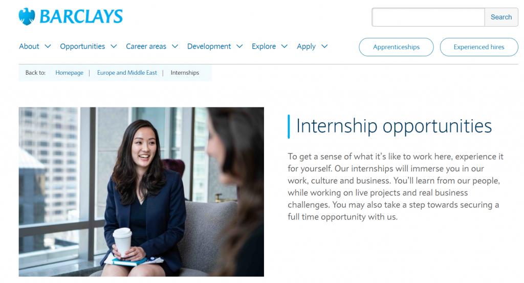 Barclays Summer Internship