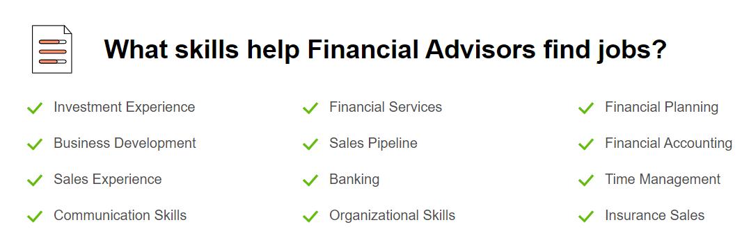 Financial Advisor Skills
