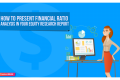 How to Present Financial Ratio Analysis in Your Equity Research Report