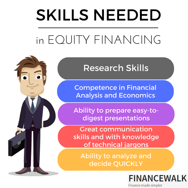 Skills needed in Equity financing